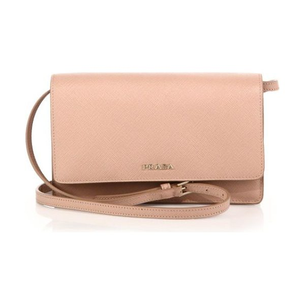 PRADA Saffiano lux small crossbody bag - Crafted of beautifully textured Saffiano calfskin, this...