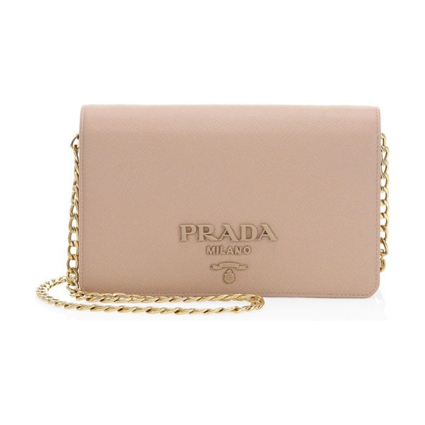 Prada small monocrome leather crossbody bag in cipria - Sophisticated leather crossbody bag for a modern style....