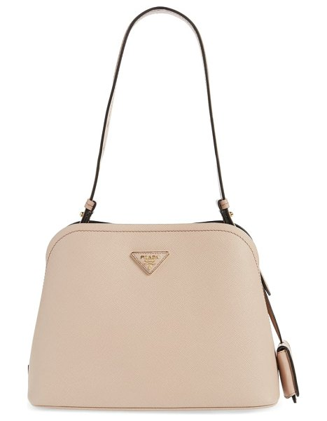 Prada small promenade saffiano calfskin shoulder bag in beige