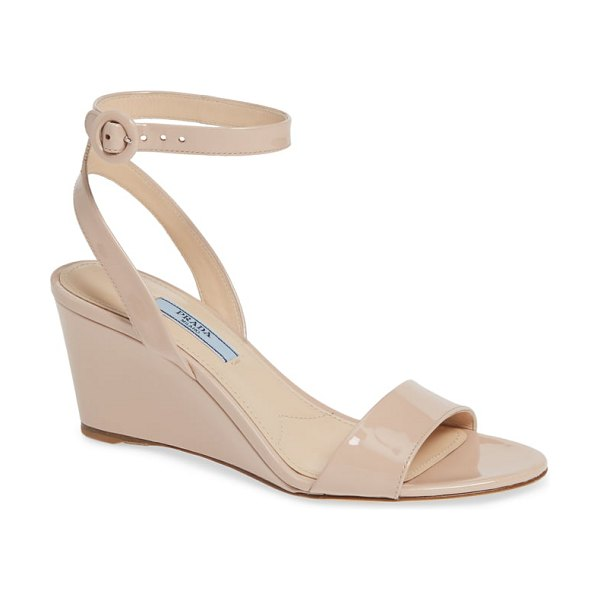 Prada wedge sandal in beige (nordstrom exclusive)