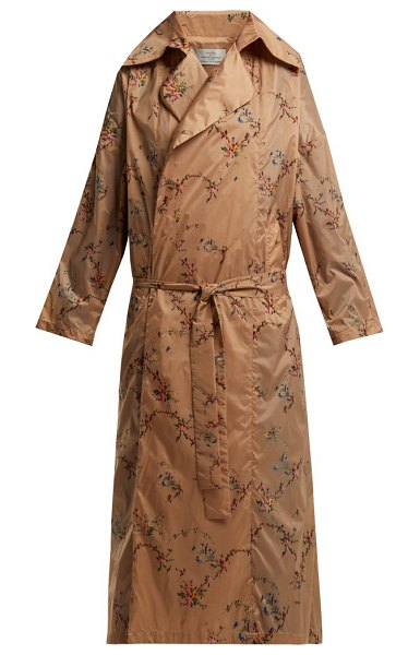 Preen By Thornton Bregazzi Arlissa Floral Garland Print Lightweight Coat in nude multi - Preen By Thornton Bregazzi - Preen by Thornton Bregazzi...