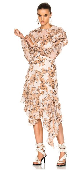 Preen By Thornton Bregazzi Dyani Dress in abstract,neutrals - Self: 78% viscose 22% polyamide - Lining: 100% viscose. ...