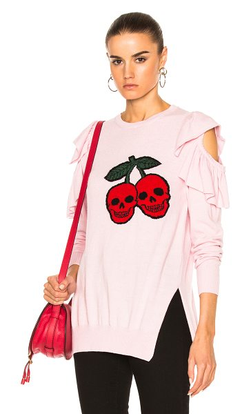 Preen Line Dina Sweater in pink jacquard - 35% polyamide 30% virgin wool 30% viscose 5% cashmere....
