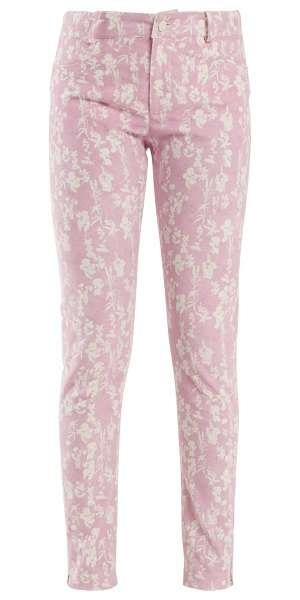 Preen Line kiera skinny floral print corduroy trousers in light pink