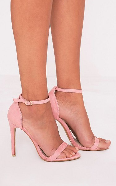 PrettyLittleThing clover strap heeled sandals in rose
