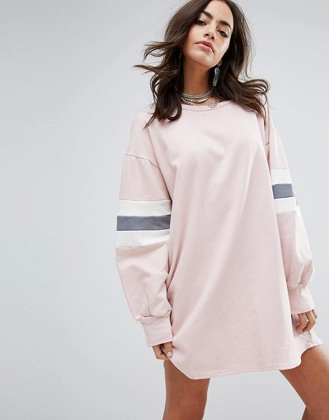 PrettyLittleThing Color Block Sweater Dress in pink