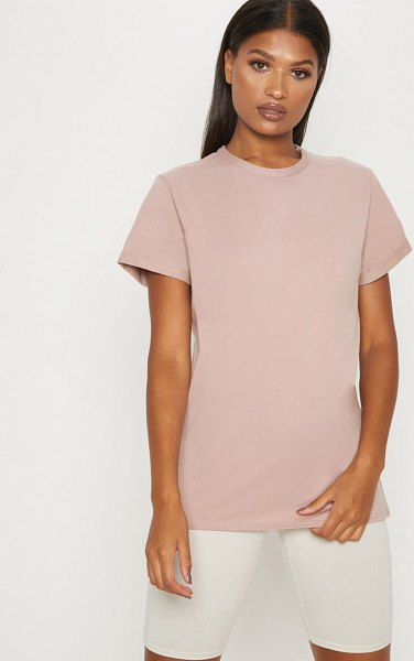 PrettyLittleThing dusty pink boyfriend t shirt in dusty pink -  Get the ultimate off duty look with this oversized T...