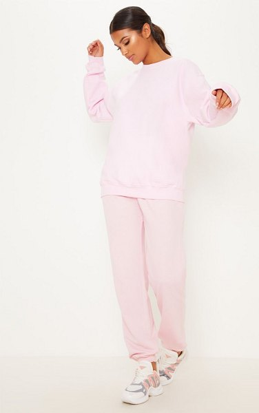 PrettyLittleThing baby pink ultimate oversized sweater in baby pink