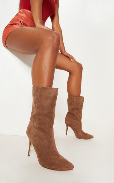 PrettyLittleThing mid heel ankle boot in sand -  Nude hues are our fave this season and we love these...