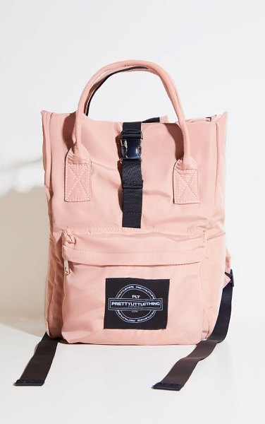 PrettyLittleThing multi pocket with handle backpack in pink
