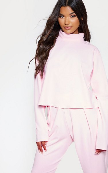 PrettyLittleThing pastel pink high neck long sleeve sweater in pastel pink -  nWe are obsessing over this dreamy sweater to complete...