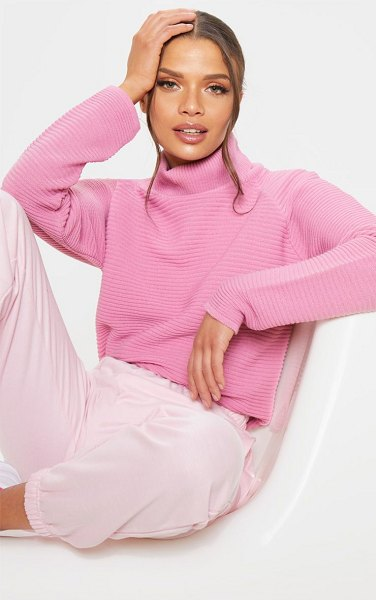 PrettyLittleThing ribbed oversized knit jumper in pink - Make your outfit work for you with this must have jumper...