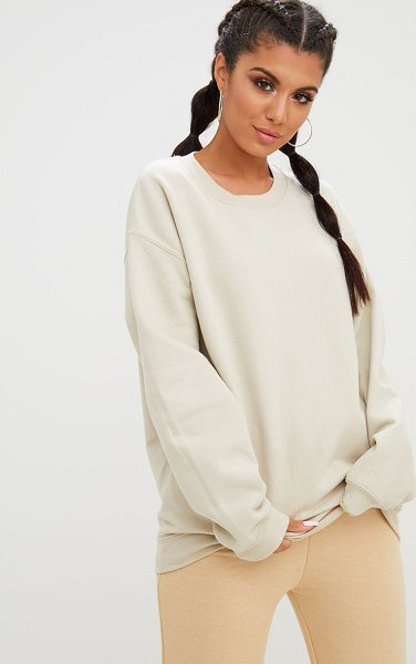 PrettyLittleThing ultimate oversized sweater in sand