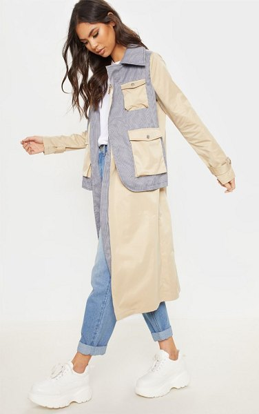 PrettyLittleThing utility trench coat in cream - This trench coat is perfect for giving your everyday...