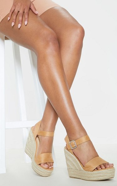 PrettyLittleThing wedge sandal in sand