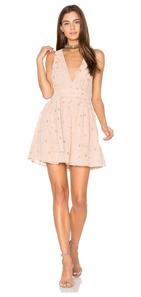 Privacy Please Airy Dress in blush - You must be my lucky star. Gathered lightweight fabric...