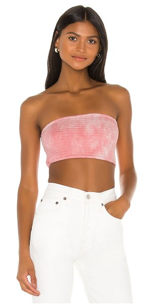 Privacy Please bolsa top in pink & white