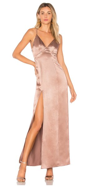 Privacy Please Bridge Maxi in mauve - Embrace the starlet inside you with the simple yet...