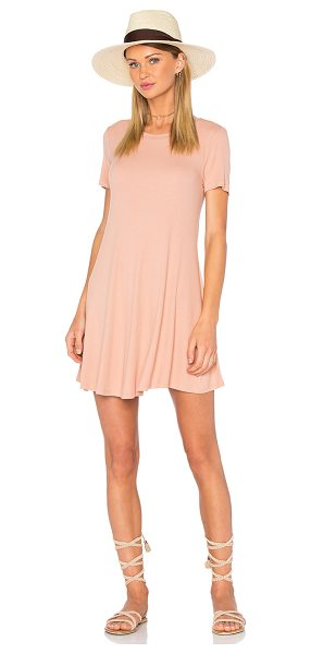 Privacy Please Caldwell Dress in peach - Rayon blend. Hand wash cold. Unlined. Rib knit fabric....