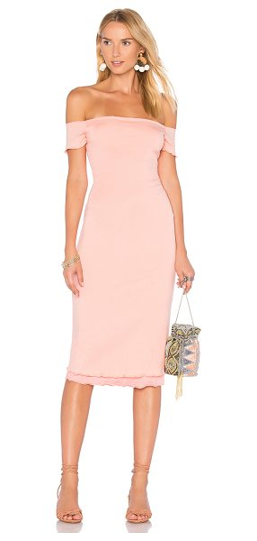 Privacy Please Caperton Dress in peach - Mingling around town in the Caperton Dress by Privacy...