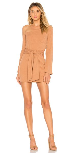 Privacy Please Chloe Mini Dress in tan - 95% poly 5% elastane. Hand wash cold. Unlined....