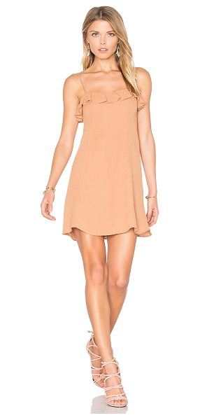 Privacy Please Cisco Dress in brown - Who says you can't go nude? Cut from a lightwieght...