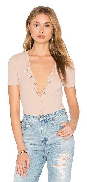 Privacy Please Dunwell Bodysuit in nude - 95% rayon 5% spandex. Dry clean only. Partial front...
