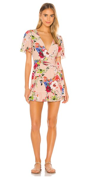 Privacy Please finlay mini dress in nude amy floral