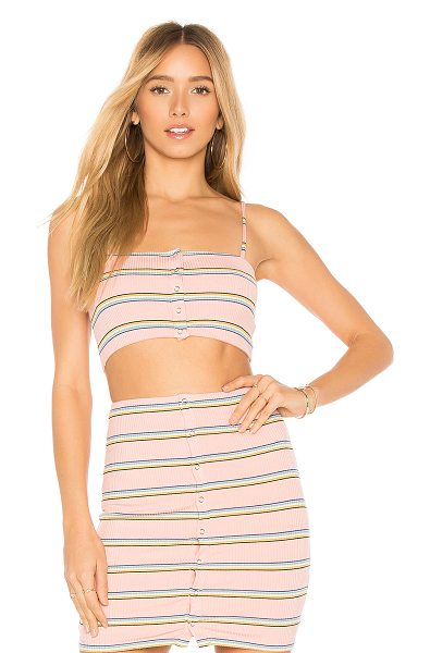 Privacy Please Goldman Tank in pink - Self: 90% rayon 6% spandex 4% polyLining: 95% poly 5%...