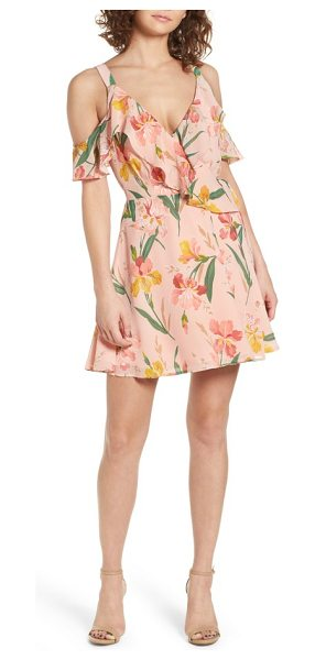 Privacy Please hamlet off the shoulder wrap dress in ballet - Perfectly pretty for any warm-weather celebration, this...