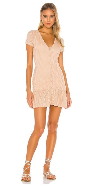 Privacy Please jeanne mini dress in taupe