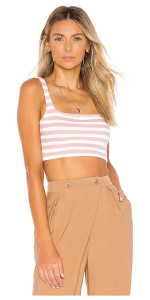 Privacy Please ladera top in pink stripe