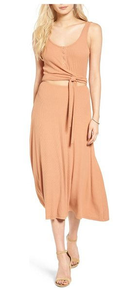 Privacy Please malone knit midi dress in nude - Perfect for dinner parties on the porch and afternoons...