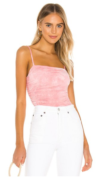 Privacy Please miramar bodysuit in pink & white