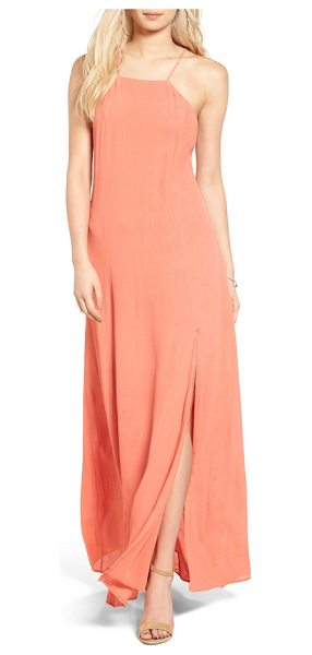 Privacy Please orrin maxi dress in peach - Perfect for those weekends that call for low-key...