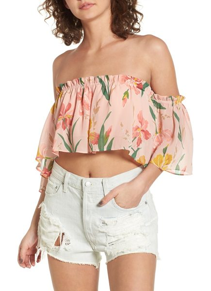 PRIVACY PLEASE parsons off the shoulder crop top in ballet - Whether you're soaking up the sun seaside or at a...