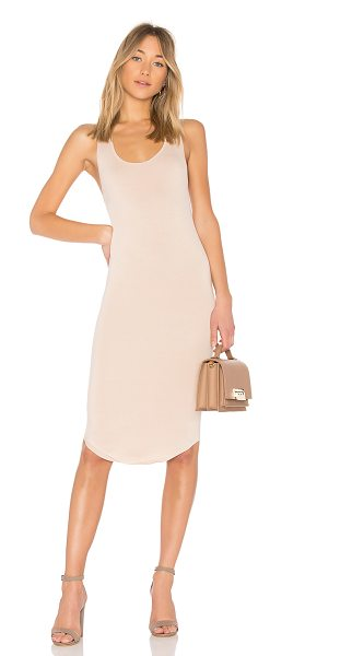 Privacy Please Racerback Midi Dress in beige - Privacy Please presents the ultimate basic for everyday...