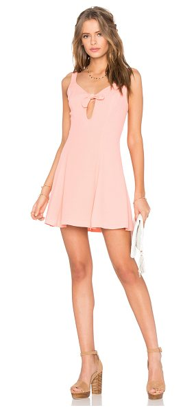 Privacy Please Ravana Dress in coral - Poly blend. Hand wash cold. Fully lined. Waist keyhole...