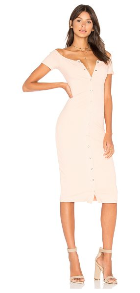 Privacy Please Rue Dress in pink - Picture perfect. Cut from soft jersey rib knit fabric,...