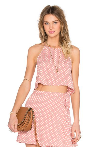 Privacy Please Silica Top in pink - Poly blend. Open back. PRIP-WS11. PPS16A011 YVO. Privacy...