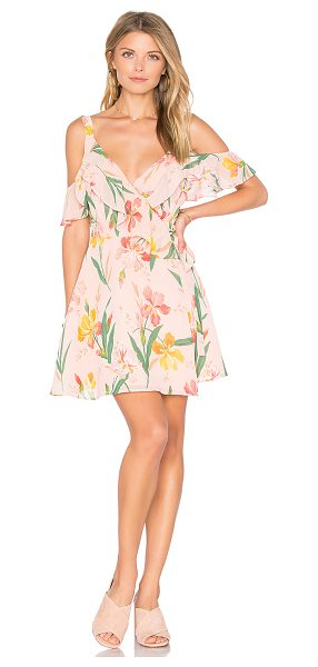 Privacy Please x REVOLVE Hamlet Dress in pink - Dreaming of the tropics. Cut from a lightwieght fabric...