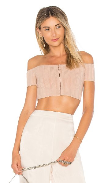 Privacy Please x REVOLVE Lenda Crop Top in tan - Reign over retro style in the Privacy Please Lenda Crop...