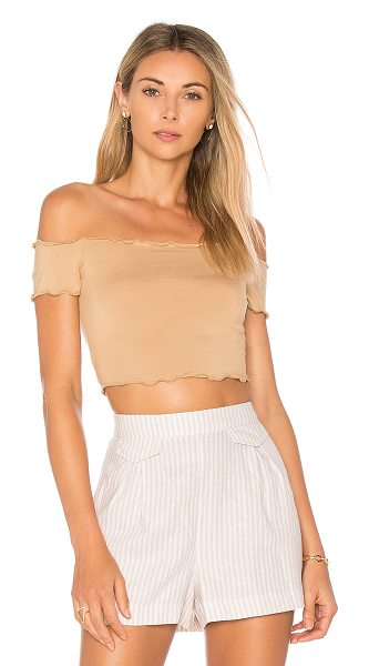 Privacy Please Stanton Top in tan - Subtly sassy in the Stanton Top by Privacy Please. An...
