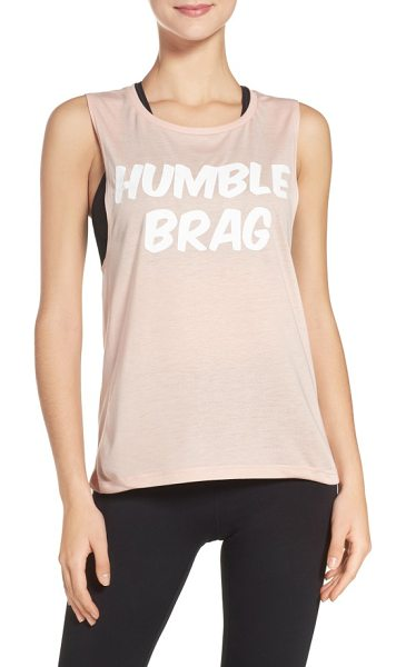 Private Party humble brag tank in peach - Ideal for those who are just exhausted from their...
