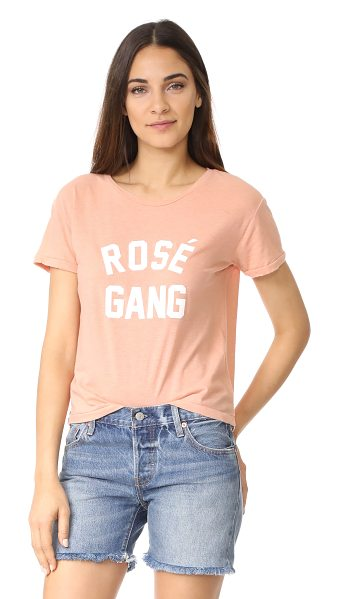 Private Party rose gang tee in pink - A pilled finish lends a vintage feel to this loose...