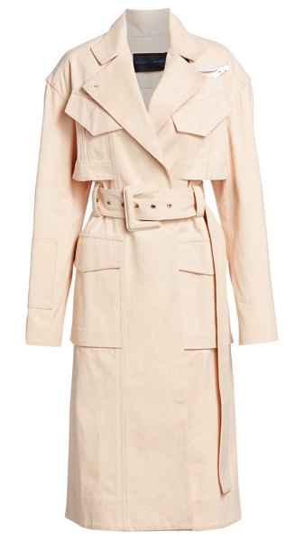 Proenza Schouler canvas denim belted trench in ecru - An example of exquisite craftsmanship, this stunning...