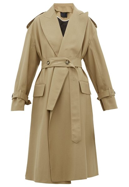 Proenza Schouler detachable-lapel wool-blend trench coat in beige
