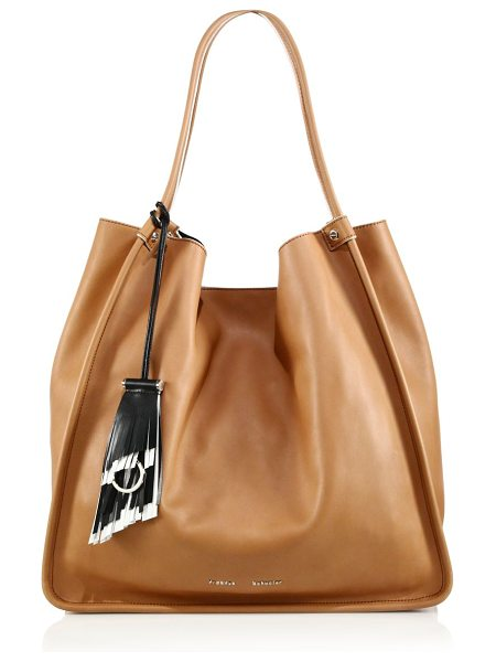 Proenza Schouler Large soft calf leather tote in dune - Buttery calf leather tote with chic slouch. Dual carry...