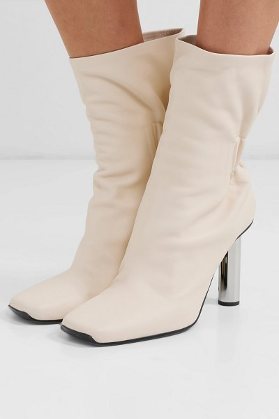 Proenza Schouler leather ankle boots in neutral