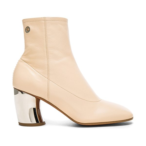 Proenza Schouler Leather Booties in neutrals - Leather upper and sole.  Made in Italy.  Shaft measures...